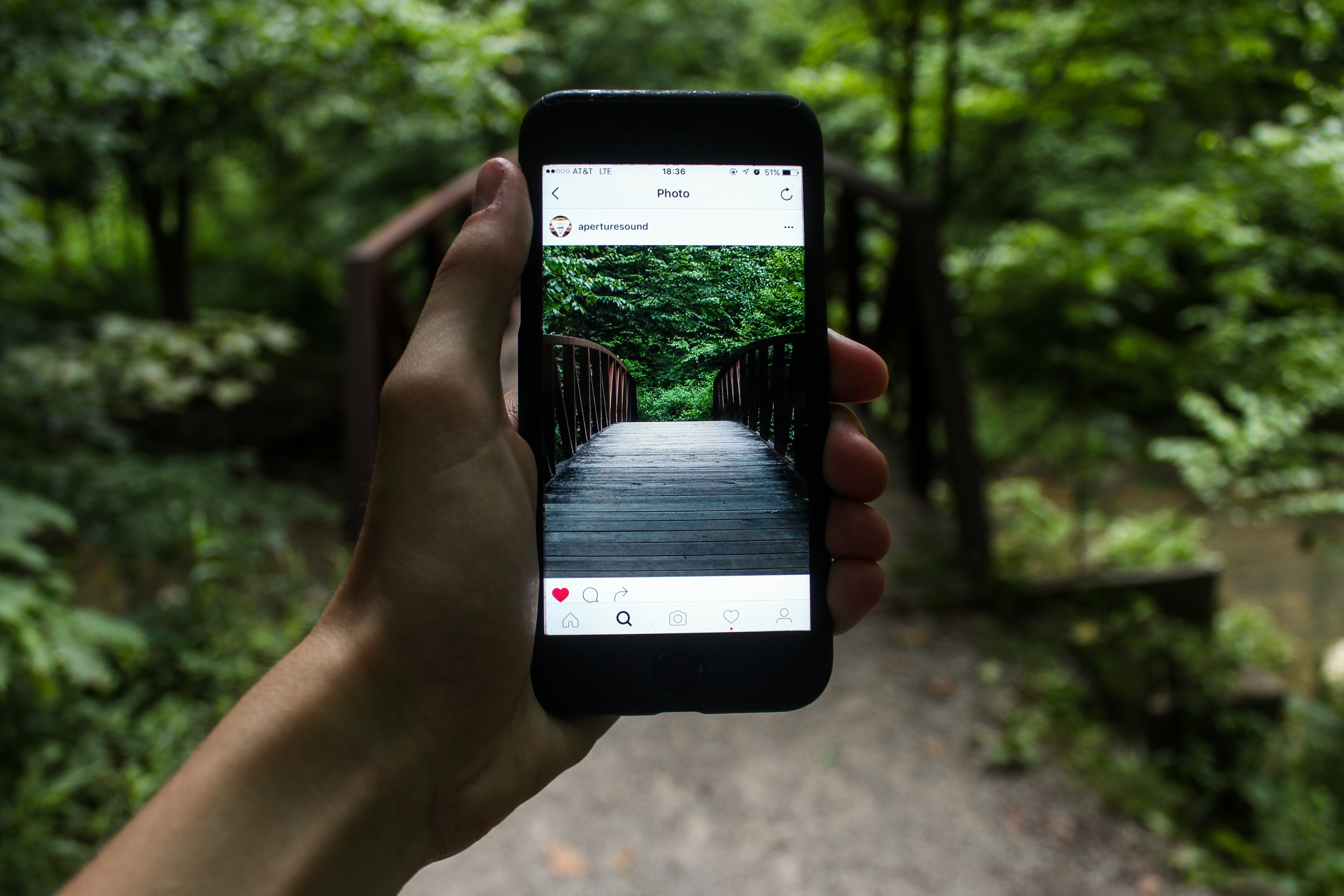 running a successful instagram account - taking picture on phone