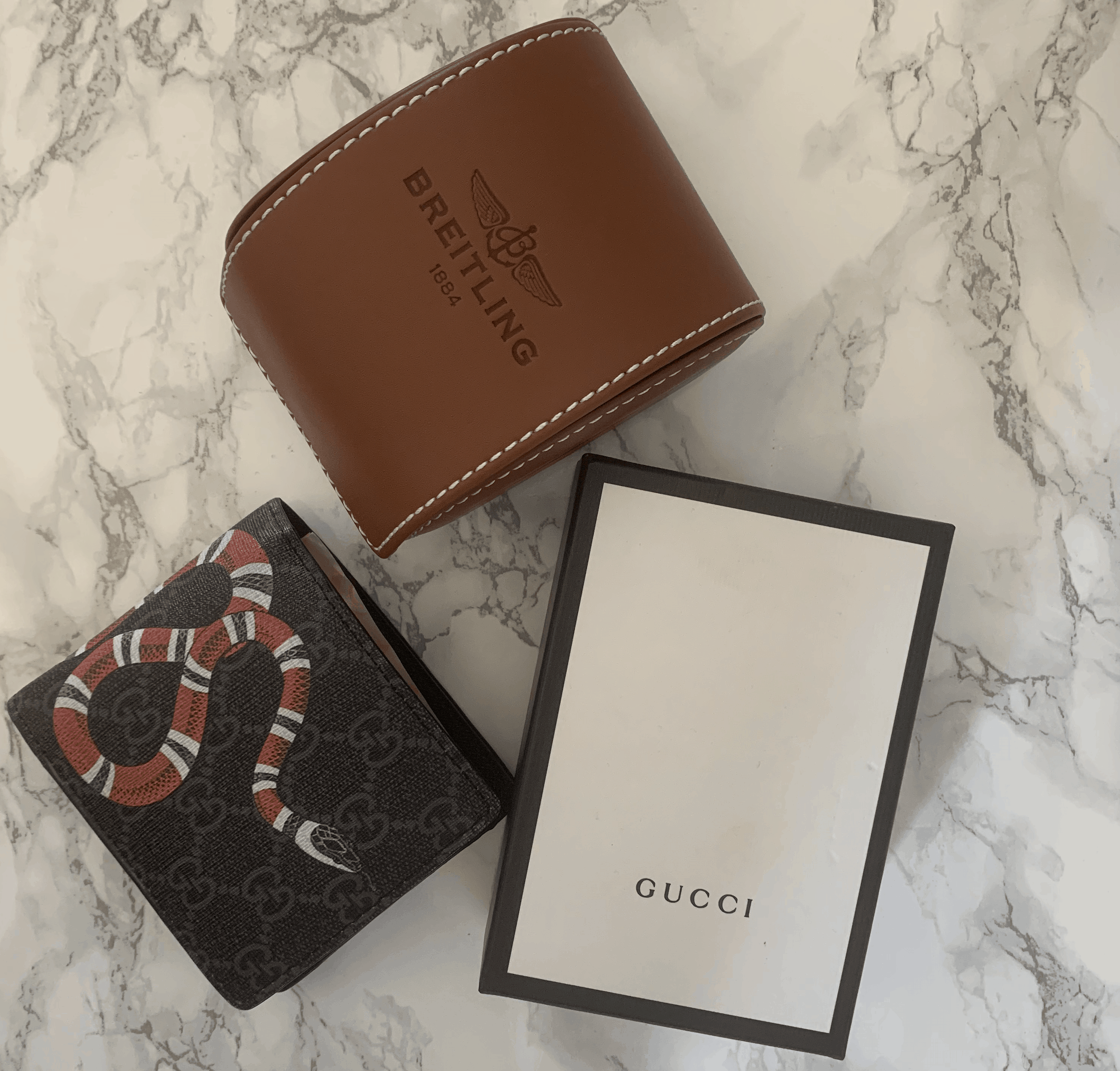 mens watch and wallet